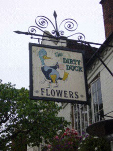 The infamous Dirty Duck pub